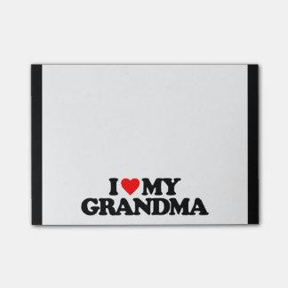 I LOVE MY GRANDMA POST-IT® NOTES