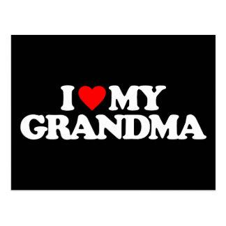 I LOVE MY GRANDMA POST CARDS