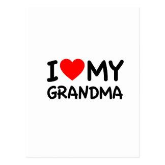 I love my Grandma Post Card