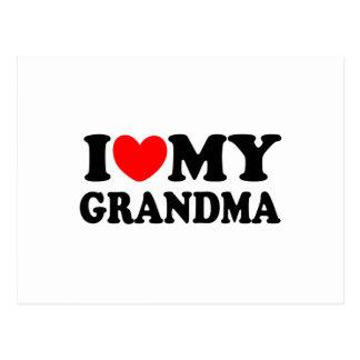 I Love My Grandma Postcards
