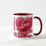 I Love My Grandma red - heart Mug