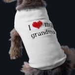 "I love my grandma shirt<br><div class=""desc"">Item says &quot;I love (heart) my grandma&quot; on it.</div>"