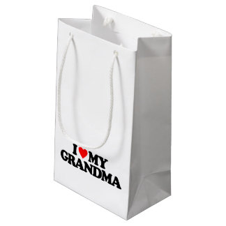 I LOVE MY GRANDMA SMALL GIFT BAG