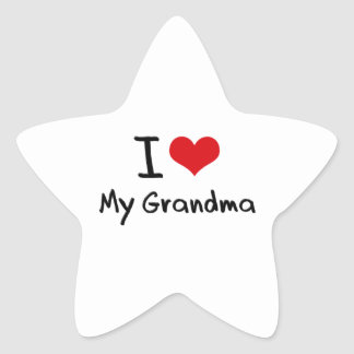 I Love My Grandma Star Stickers