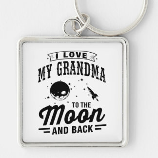 I Love My Grandma To The Moon And Back Keychain