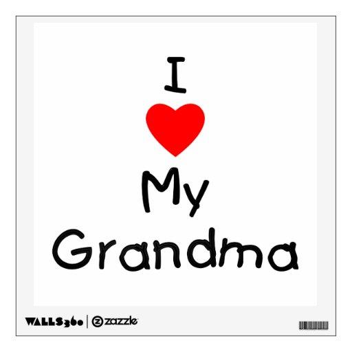 Download I love my grandma wall decal | Zazzle