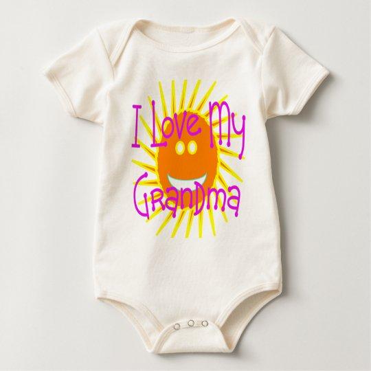 I love my Grandma Yellow Sun Baby Bodysuit