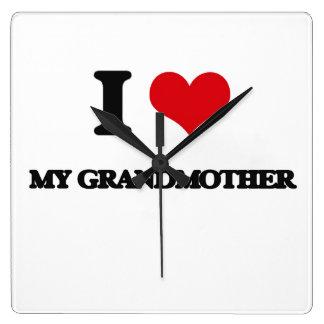 I Love My Grandmother Square Wallclock