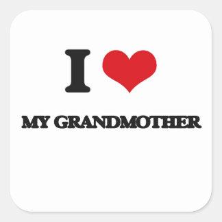 I Love My Grandmother Square Sticker