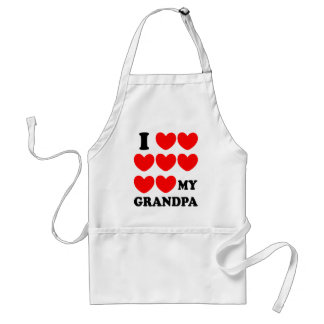 I Love My Grandpa Adult Apron