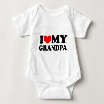 I Love My Grandpa Baby Bodysuit