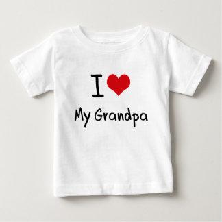 I Love My Grandpa Baby T-Shirt