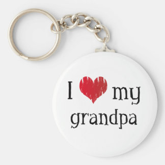 I Love my grandpa Basic Round Button Keychain