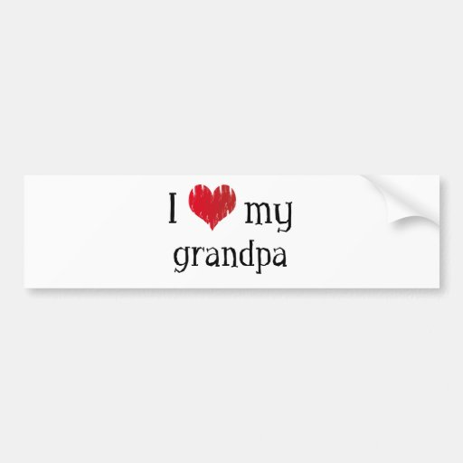 I Love my grandpa Bumper Sticker