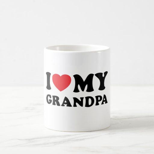 I-love-my-Grandpa Classic White Coffee Mug
