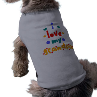 i love my grandpa dog tee shirt