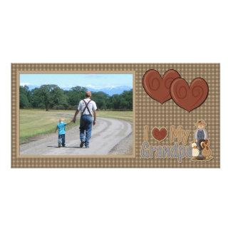 I Love My Grandpa (farmer) Photocard Card