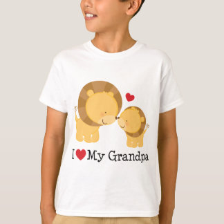 I Love My Grandpa Gift T-Shirt