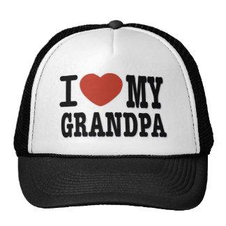 I LOVE MY GRANDPA TRUCKER HAT