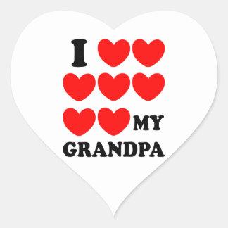 I Love My Grandpa Heart Sticker