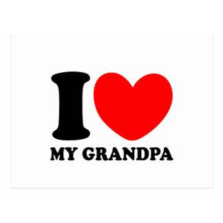 I Love My Grandpa Postcard