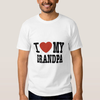 I LOVE MY GRANDPA TEE SHIRT