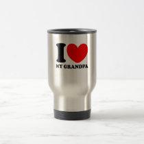 I Love My Grandpa Travel Mug