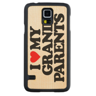 I LOVE MY GRANDPARENTS CARVED® MAPLE GALAXY S5 SLIM CASE