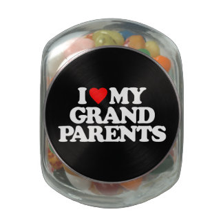 I LOVE MY GRANDPARENTS JELLY BELLY CANDY JARS