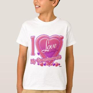 I Love My Grandparents pink/purple - heart T-Shirt