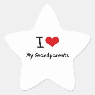 I Love My Grandparents Star Sticker