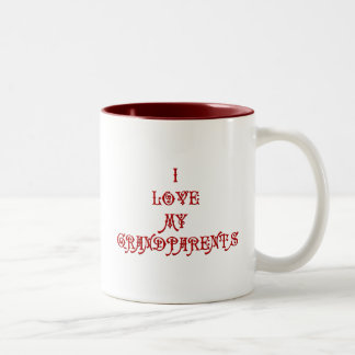 I love My Grandparents Two-Tone Coffee Mug