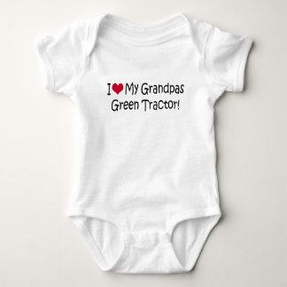 I Love My Grandpas Green Tractor Baby Bodysuit