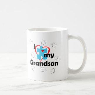 I Love My Grandson - Autism Coffee Mug