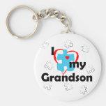 I Love My Grandson - Autism Key Chain