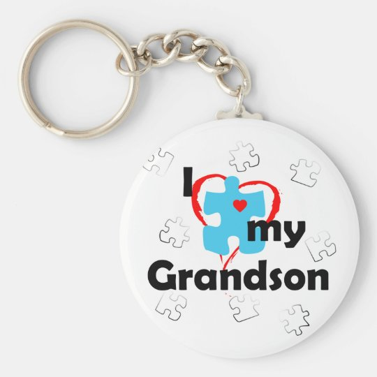 I Love My Grandson - Autism Keychain