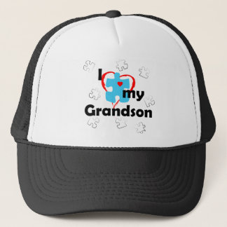 I Love My Grandson - Autism Trucker Hat