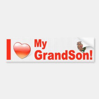 I LOVE MY GRANDSON BUMPER STICKER