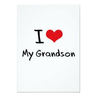"I Love My Grandson 5"" X 7"" Invitation Card"