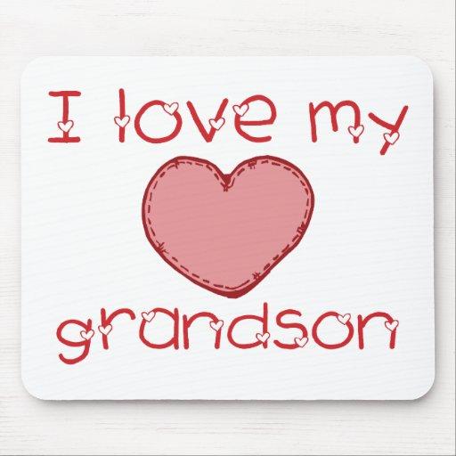 I Love My Grandson Mousepads Zazzle