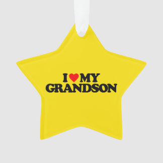 I LOVE MY GRANDSON ORNAMENT