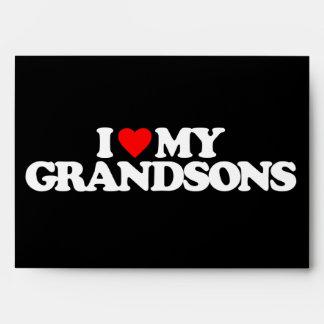 I LOVE MY GRANDSONS ENVELOPES