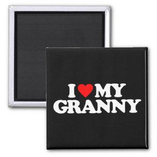 I LOVE MY GRANNY 2 INCH SQUARE MAGNET