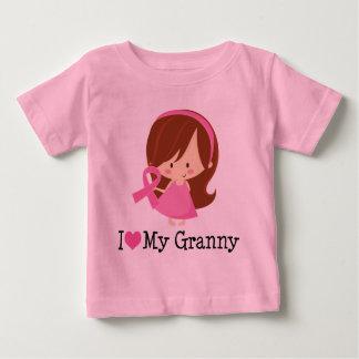 I Love My Granny Breast Cancer Ribbon Baby T-Shirt