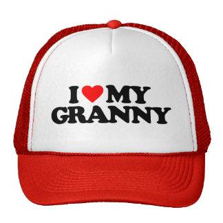 I LOVE MY GRANNY TRUCKER HAT
