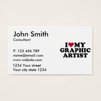 I love my graphic artist business card