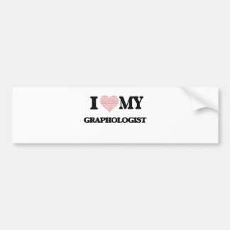 I love my Graphologist (Heart Made from Words) Car Bumper Sticker