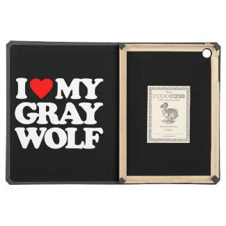 I LOVE MY GRAY WOLF iPad AIR CASES