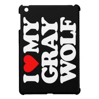 I LOVE MY GRAY WOLF iPad MINI COVER