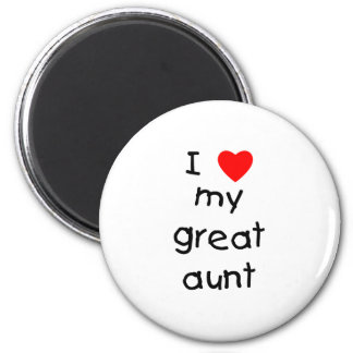 I Love My Great Aunt 2 Inch Round Magnet